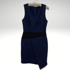 C. Luce (M) Sleeveless V-Neck Navy & Black Dress